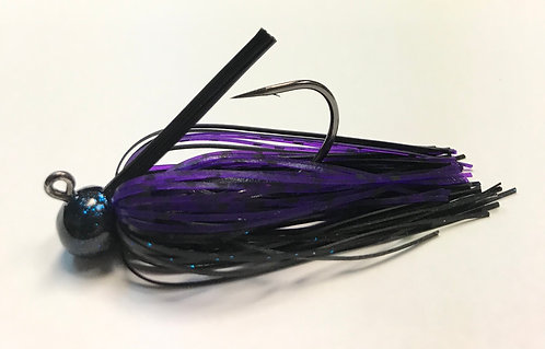 Tournament Grade OWNER Purple Smoke Craw Ball Head Jig
