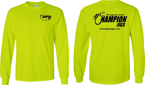 Champion Jigs Long Sleeved T-Shirt in Safety Green Color