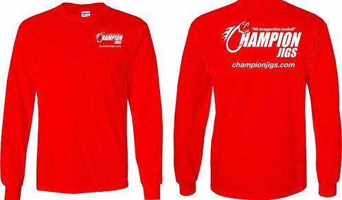 Champion Jigs Long Sleeved T-Shirt in Red