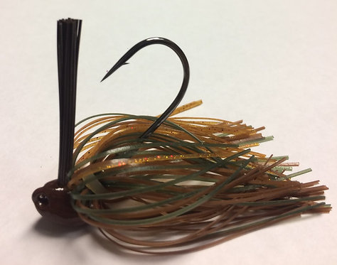 Tournament Grade MUSTAD Shock-a-wala Craw Brush Jig
