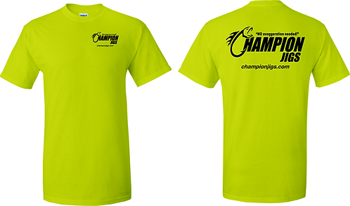Champion Jigs T-Shirt Safety Green Color