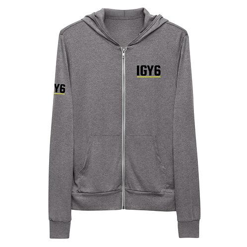 IGY6 - Lightweight Zip Hoodie (Front & Sleeve Print)