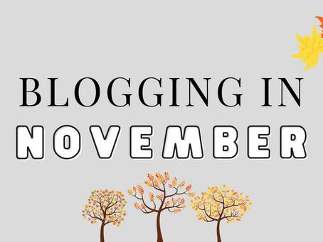 Blogging in November