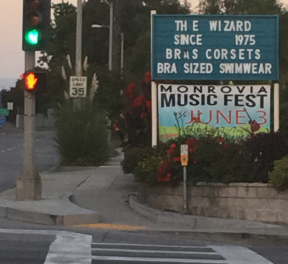 Banner featured off the eastbound Myrtle Ave. 210 Freeway exit