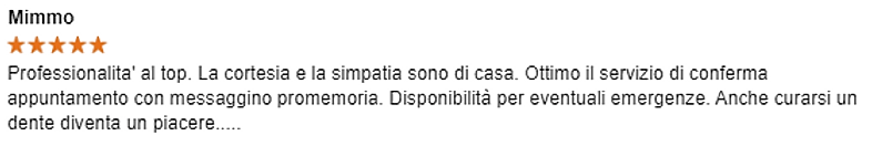 Recensione_Mimmo_su_Studio_Dentistico_Ca