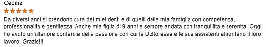 Recensione_Cecilia__su_Studio_Dentistico