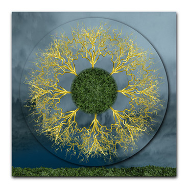 Gold Discharge Mandala
