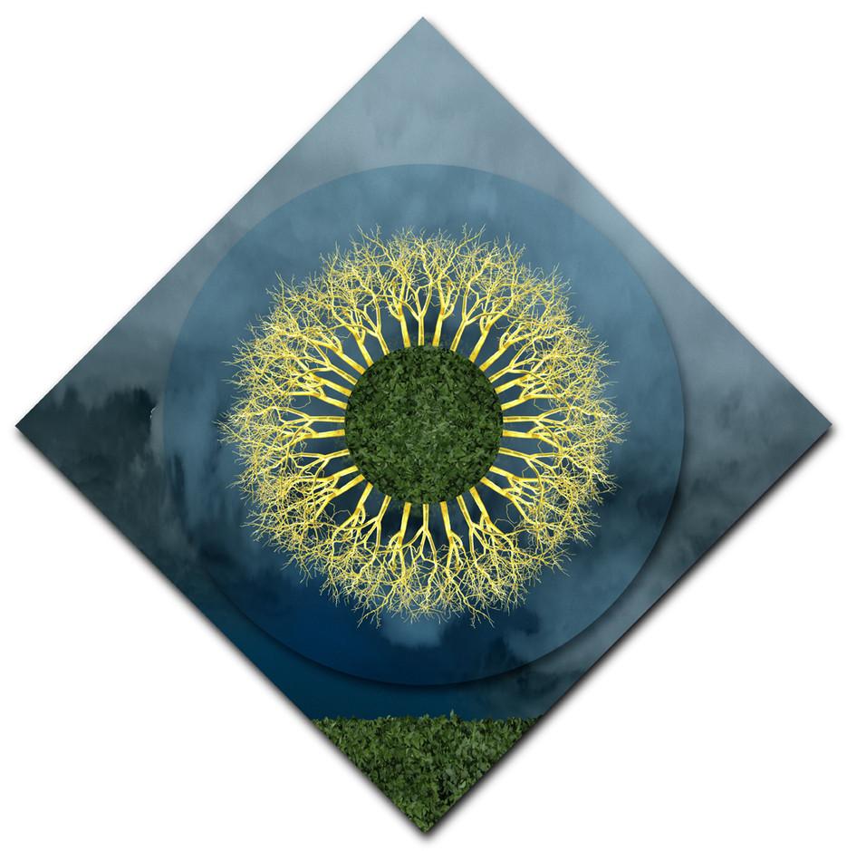 Field of Gold Mandala (diamond rotation)
