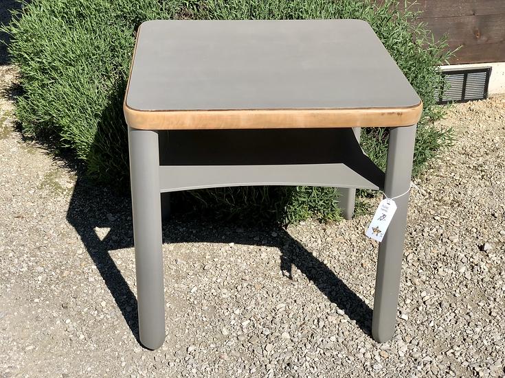 table carrée double plateau