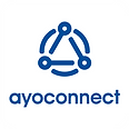 Ayoconnect Logo Vertical Blue