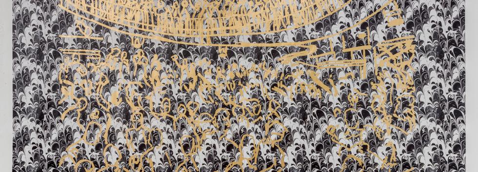 DISCO! 2019 Print on airtex gilded with gold foil 300x569cm