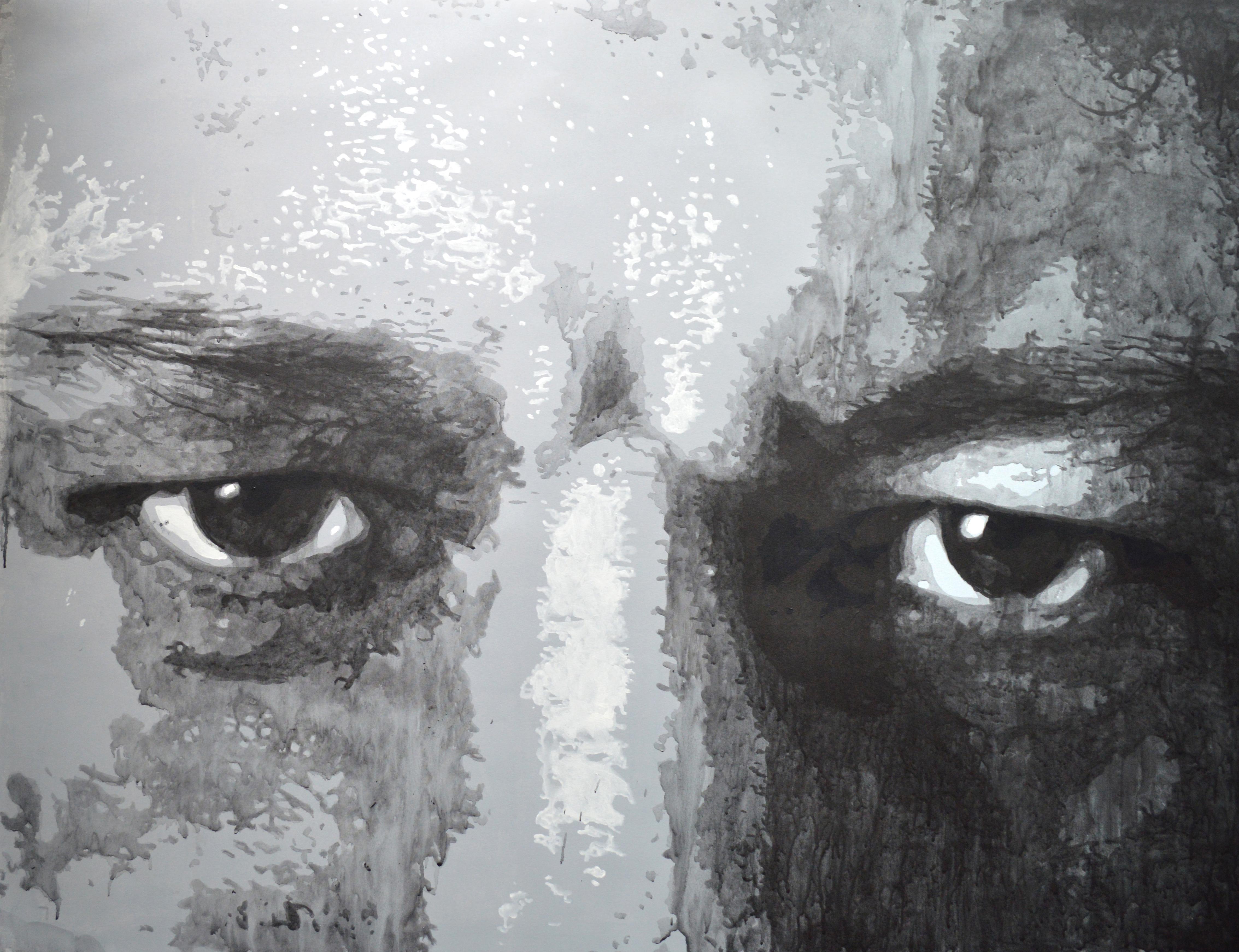regard 1, 2015, acrylique sur toile, 81 cm x 110 cm.