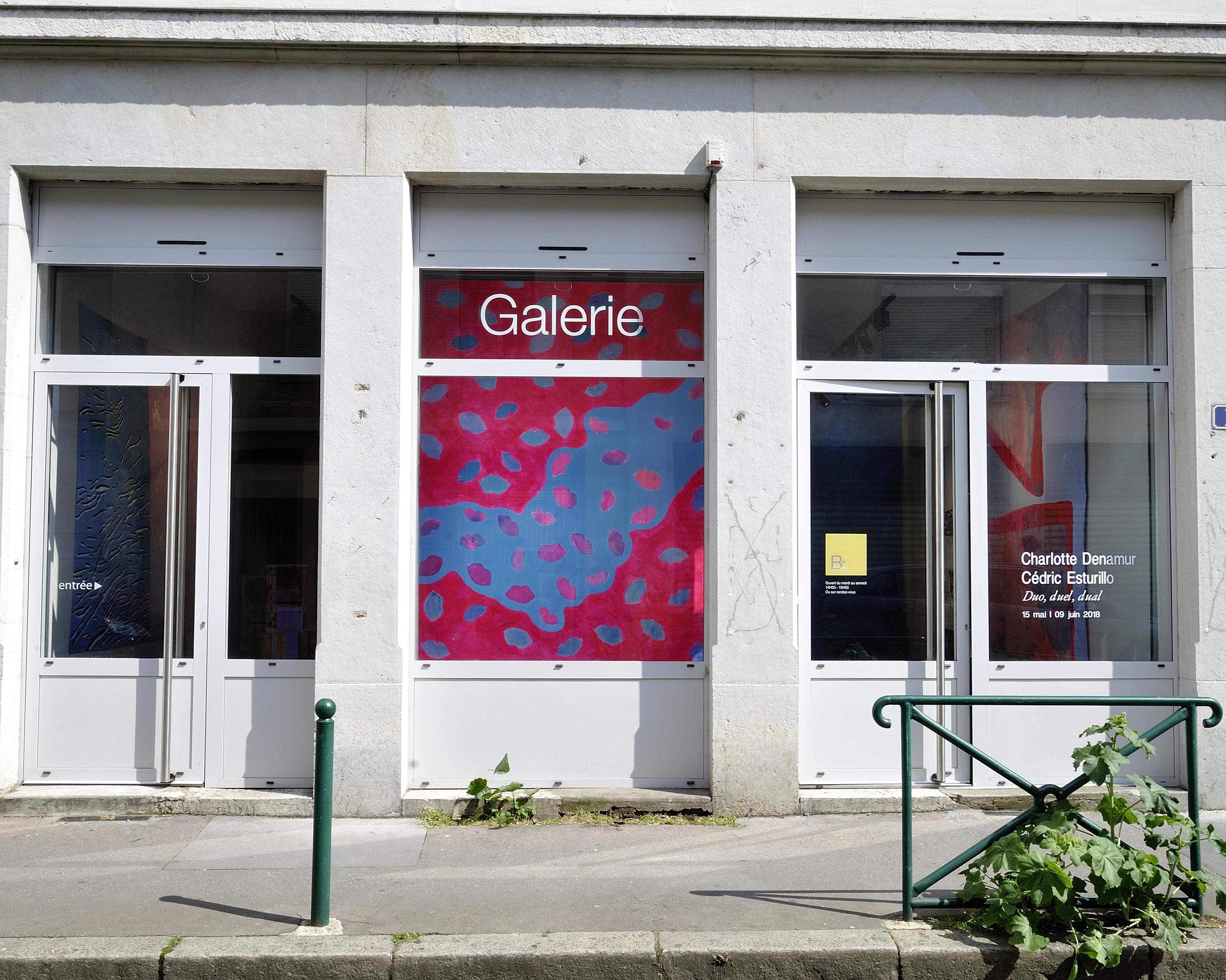 Vitrine galerie B+