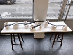 E-40 (table sculpture, grès émaillé)