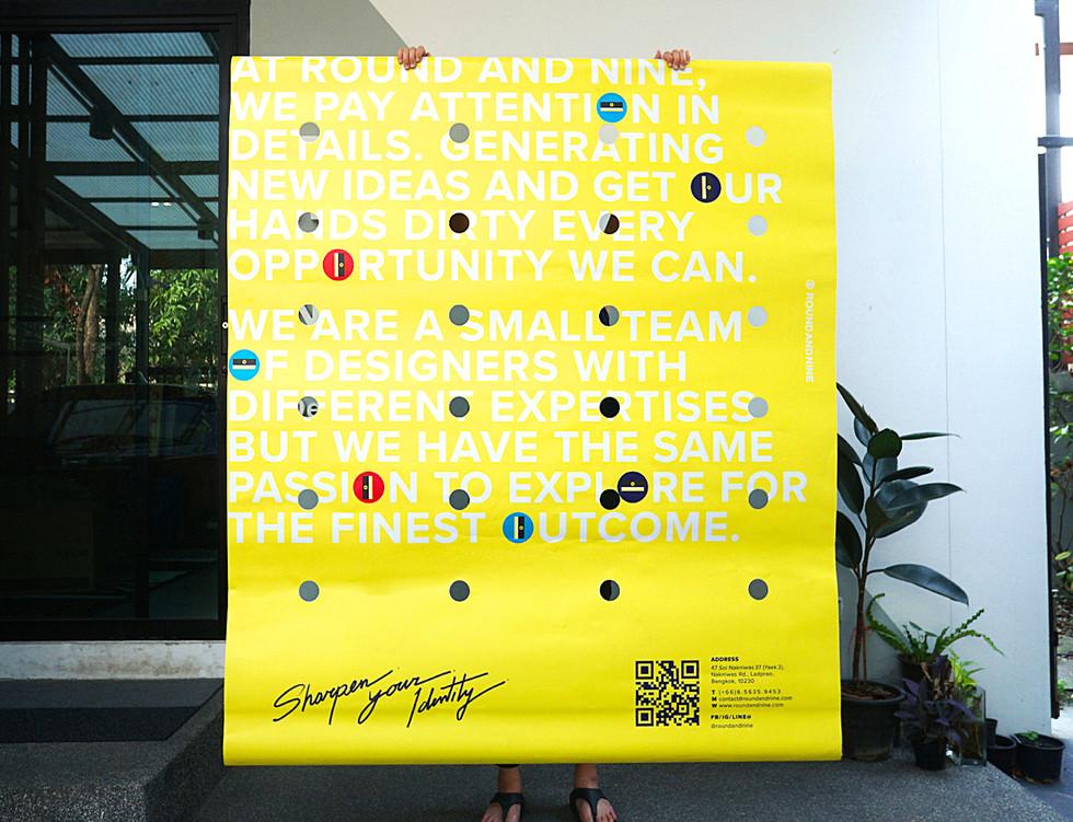 Sharpen Your Identity : Bangkok design week 2019 Poster
