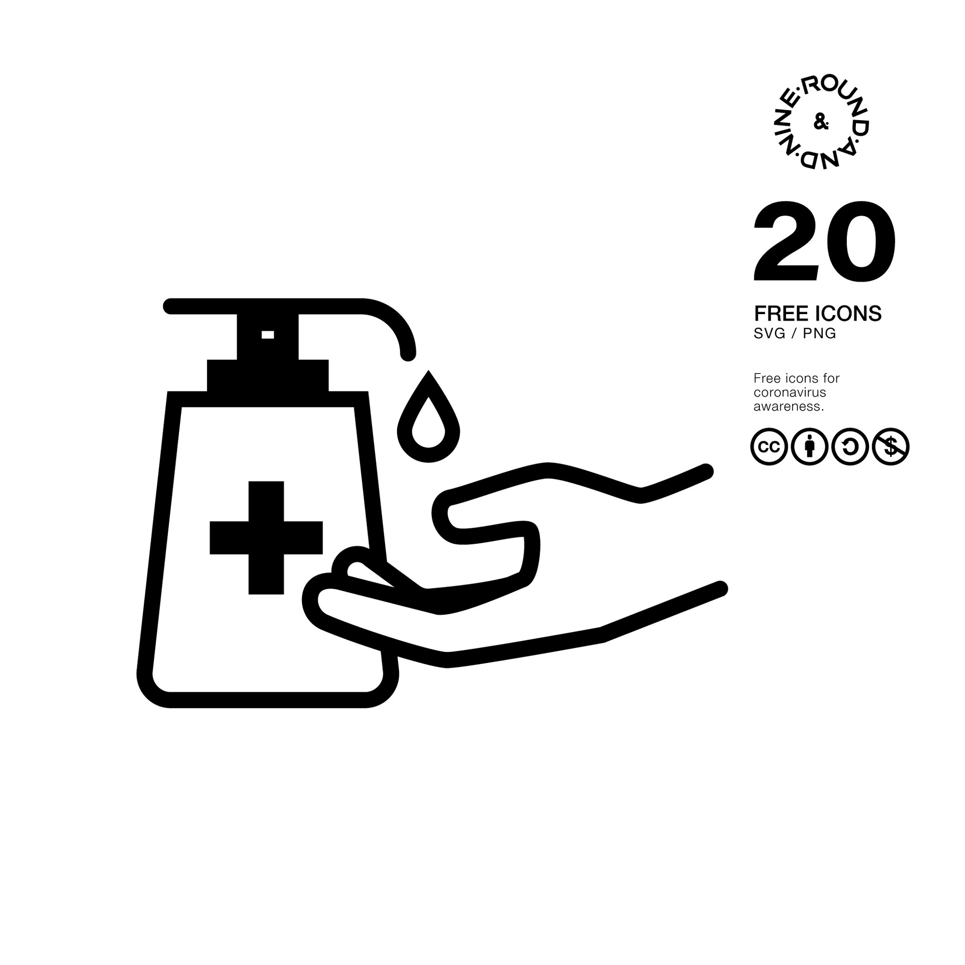 20 Free Icons for Covid-19