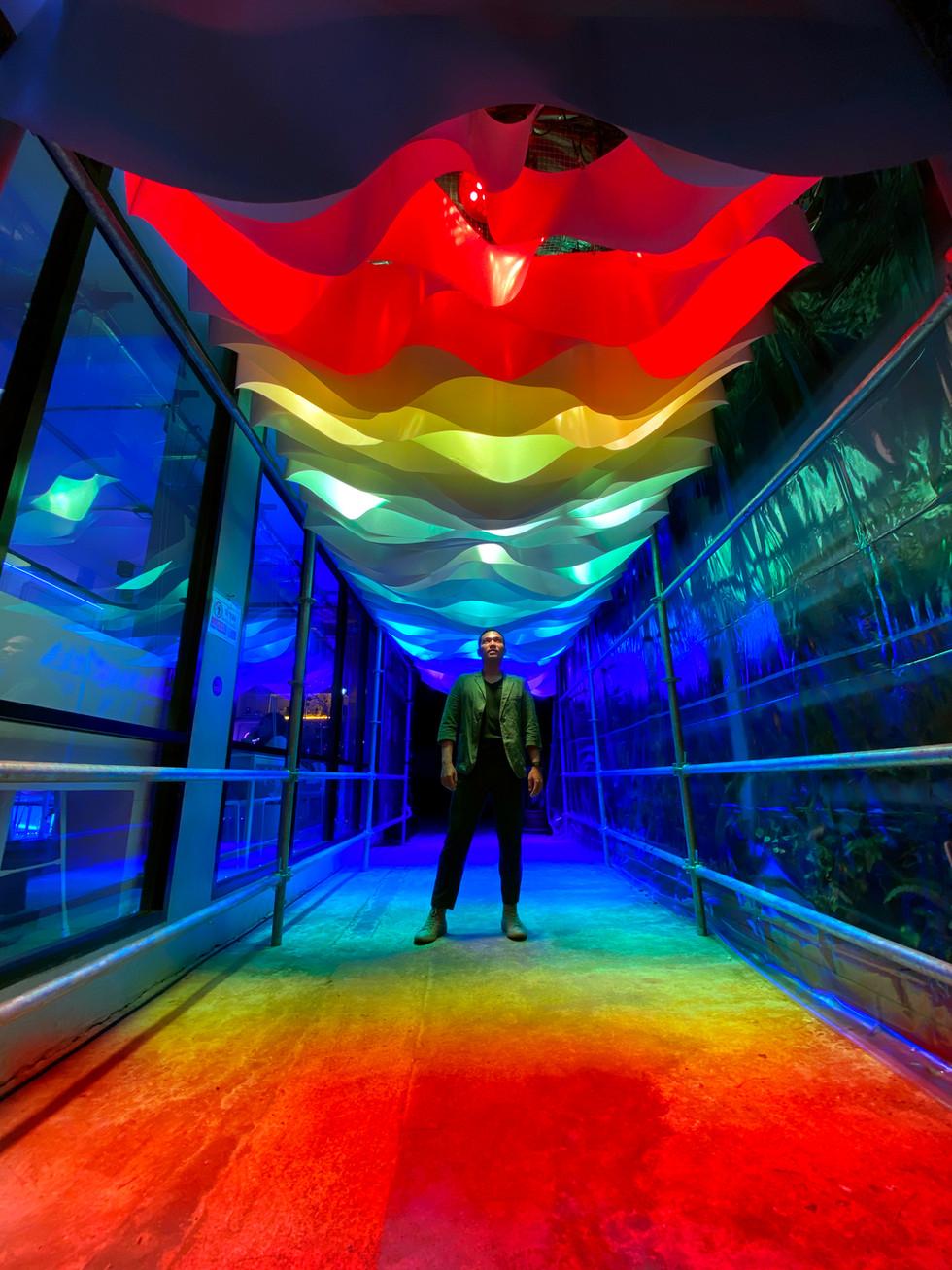 red, orange, yellow, green, blue, indigo and violet