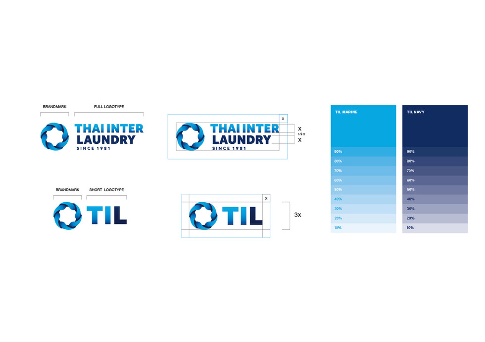 "THAI INTER LAUNDRY : Branding / Identity design / Logo design / Graphic design  Creating Identity design for ""Thai Inter Laundry"" with high quality of products and services, we created symbol by using water wave with negative form of gear to represent standard and quality.  การออกแบบอัตลักษณ์ให้กับแบรนด์ ""ไทย อินเตอร์ ลอนดรี"" โดยใช้สัญลักษณ์ของวงน้ำและฟันเฟือง แสดงคุณภาพและมาตรฐานของสินค้าและบริการที่ลูกค้าจะได้รับ  Round and Nine Bangkok, Thailand"