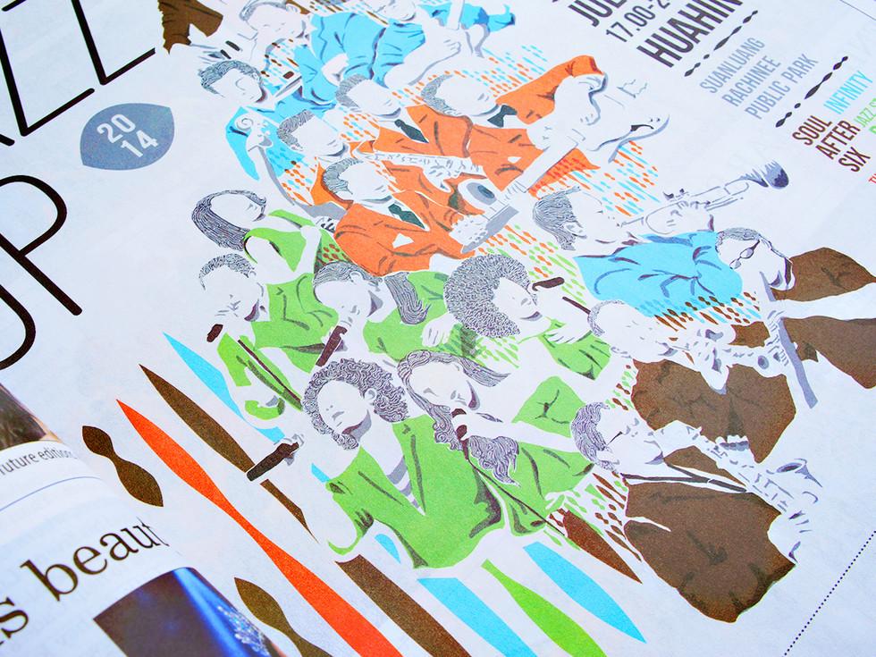 Jazz Up : Hua-hin Jazz festival : Identity design / Key visual / Environmental Graphic