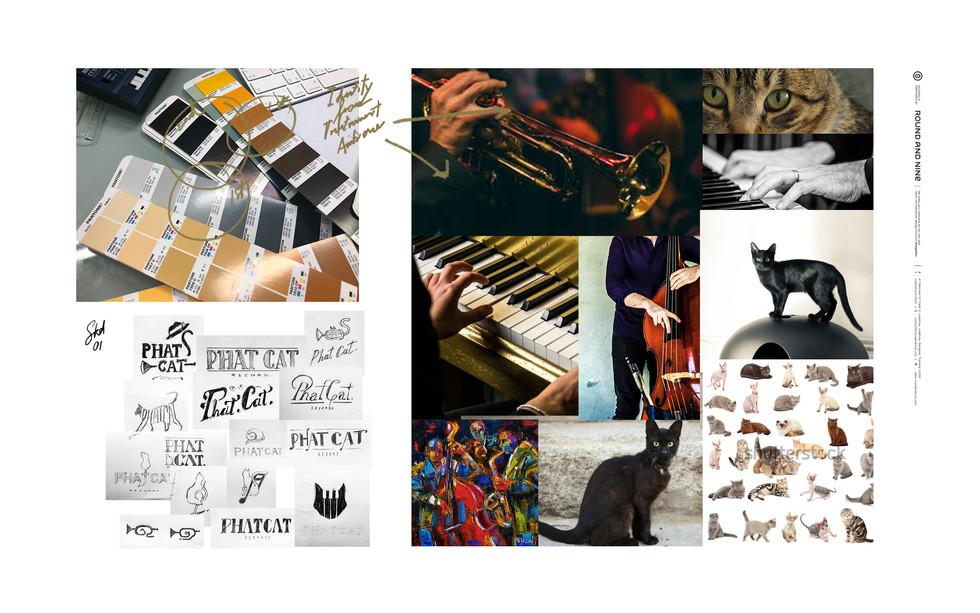 Phatcat Records : Identity design / Logo design