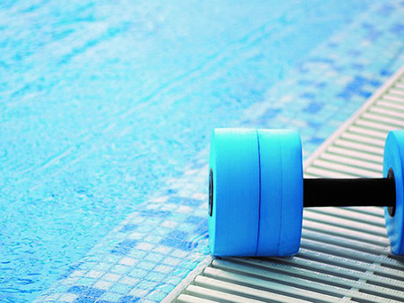 Keeping fit in the swimming pool