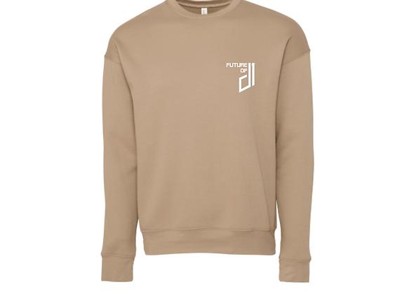 Future of D1 Crewneck Sweatshirt in Tan (Desert Sand)