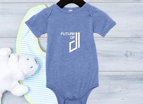 The Future of D1 Infant Romper - Light Blue