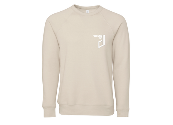 Future of D1 Crewneck Sweatshirt in Off-White (Rice)