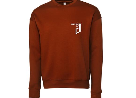Future of D1 Crewneck Sweatshirt in Burnt Orange (Longhorn)