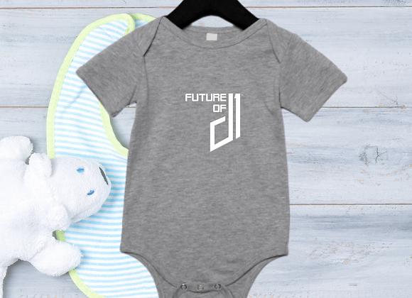The Future of D1 Infant Romper - Grey