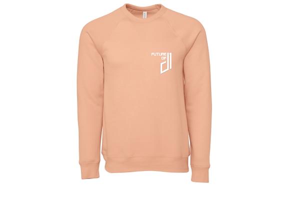 Future of D1 Crewneck Sweatshirt in Peach