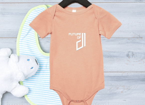 The Future of D1 Infant Romper - Peach