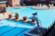 Lifeguard post at pool