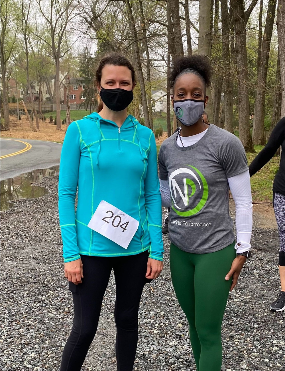 Picture: Bethany Keener, Spirit  Club Foundation executive director, and Tiffany Nesfield, Nesfield  Performance owner and trainer, pose following the 5K.