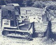 Vintage 855d case track loader