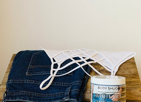 White Tee and Jeans Whipped Soap Sugar Scrub
