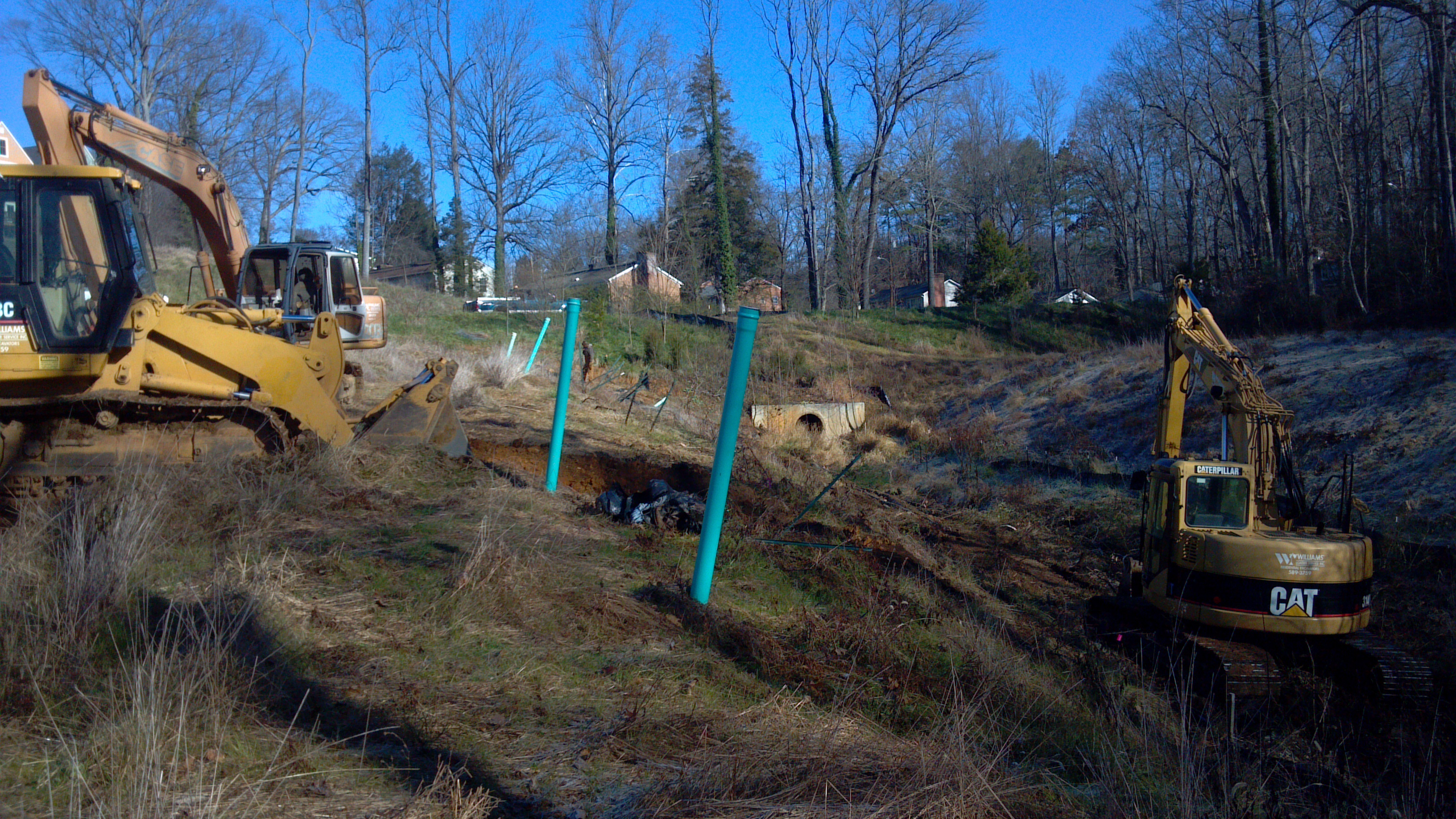 Excavating for storm water