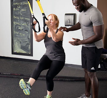 TRX with personal trainer