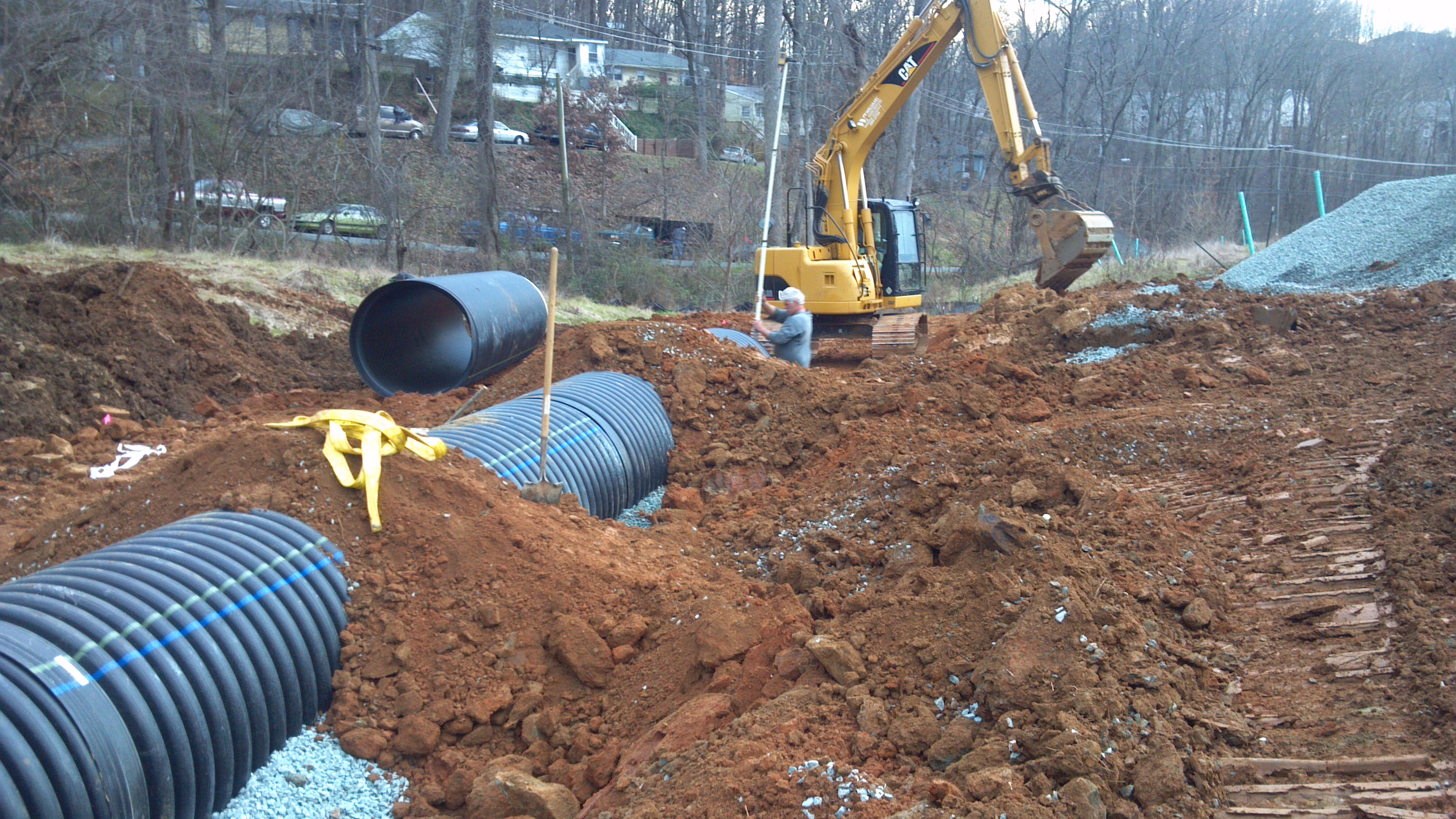 Storm water pipe install