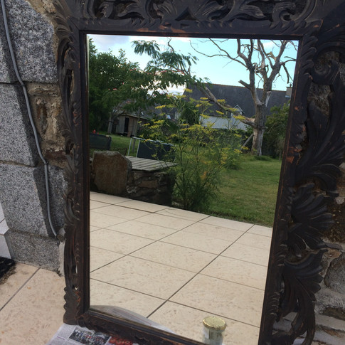 Old vintage french mirror