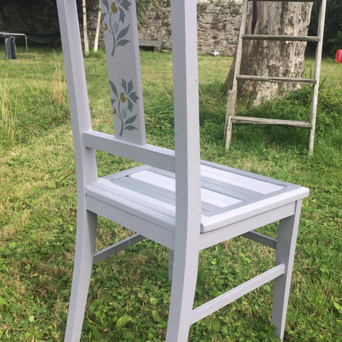 Vintage french 1930's chair upcycled