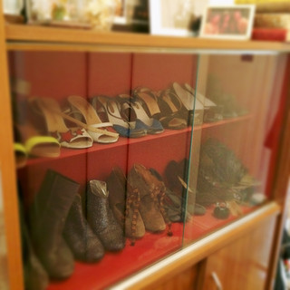 Vintage cabinet repurposed a shoe  cabinet