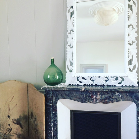 Old vintage french mirror repainted