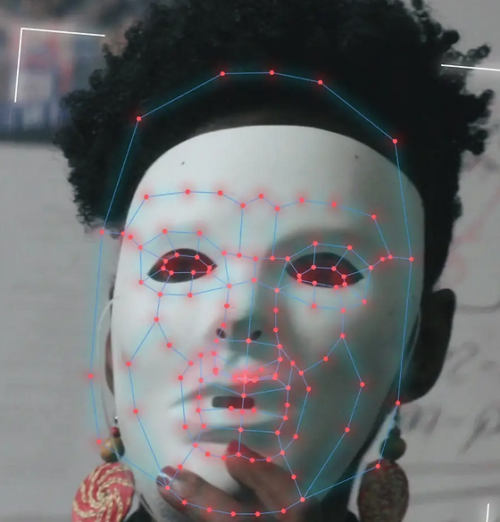 Joy in Mask from Coded Bias