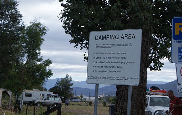 Franklin Foreshore Camping