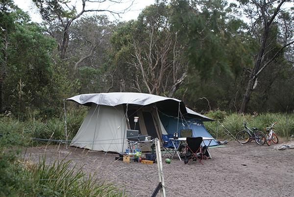River and Rocks Camping