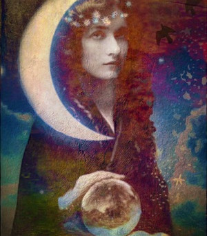 "New Moon in Cancer July 20th 10:32 am PDT  Sabian Symbol "" A Woman Reading Tea Leaves"""