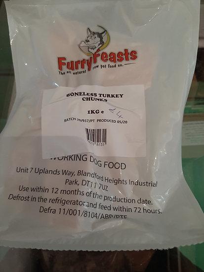 Furry feasts Turkey chunks 1kg