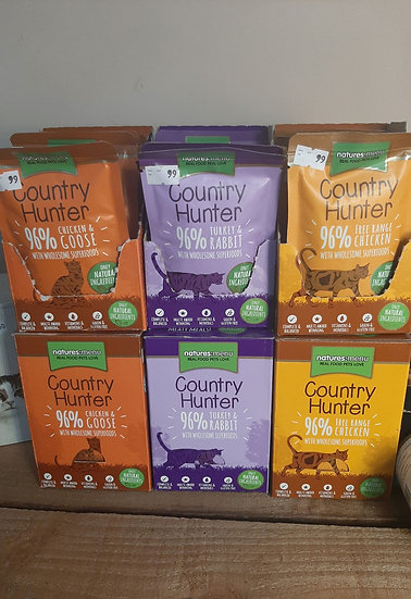 Country hunter cat pouches 85g