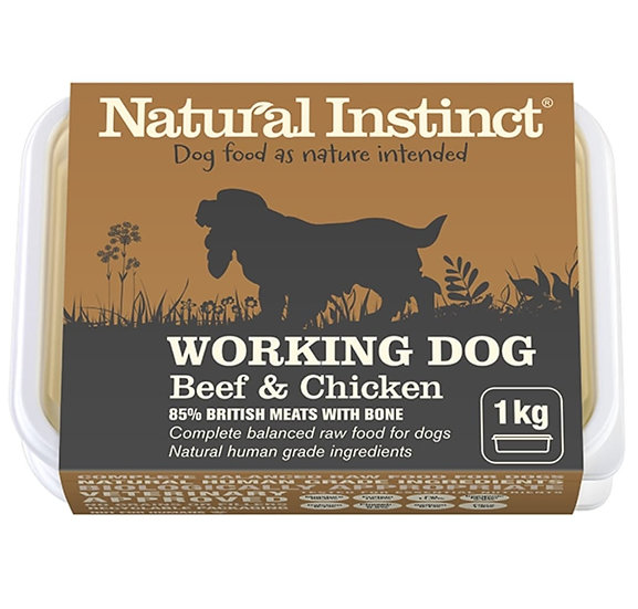 Working dog beef and chicken